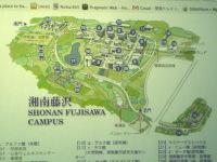 SFC学内の地図