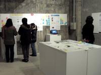 スタジオ内部の展示
