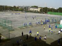 サッカーの試合とバレーの練習