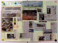曜日別の記事を使った水についての壁新聞