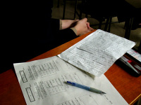 自分の発表原稿と評価シート