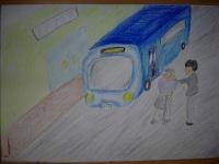 ケアプラザの送迎バス
