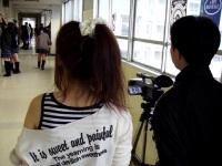 廊下での撮影