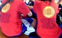 球技大会のクラスTシャツ