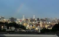ベイブリッジにかかる虹