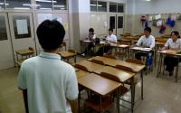 普通教室での模擬授業