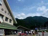 宇奈月駅から立山連峰を望む