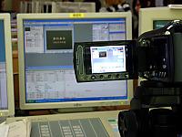 中央モニターに表示してビデオ撮影
