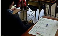 体の横の机と評価シート