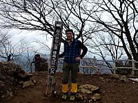 日ノ出山山頂にて