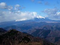 鍋割山頂からの富士山
