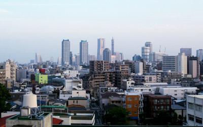 神奈川総合から臨むみなとみらい