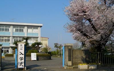 入学式朝の正門