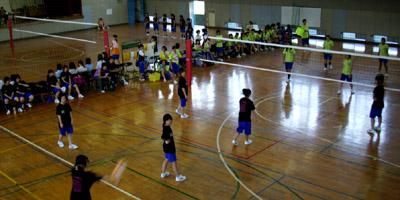 体育館のバレーボール予選